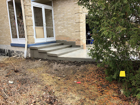 concrete steps repair 2 after