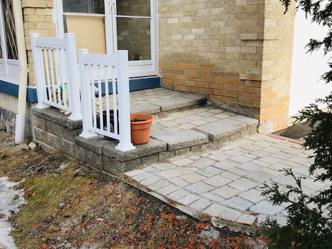 concrete steps repair 2 before
