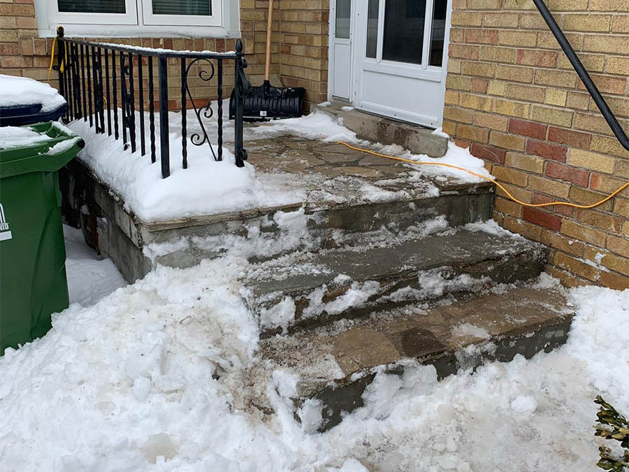 concrete steps repair 3 before