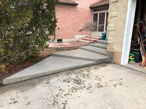 concrete steps repair after